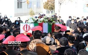 مراسم تدفین شهید گمنام در دانشگاه فرهنگیان فاطمه زهرا(س)تبریز