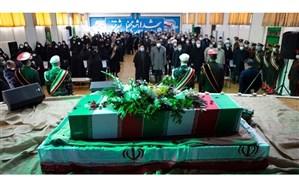 مراسم تشییع و تدفین پیکر شهید گمنام در پردیس فاطمه الزهرا (س) تبریز