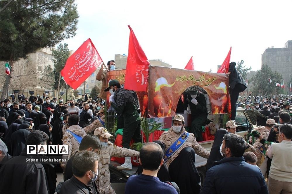 آرام گرفتن پیکر مطهر شهید عسگری  در آستان مقدس امامزاده عقیل(ع) اسلامشهر