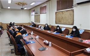 نشست هیئت رئیسه مجامع تشکل پیشتازان سازمان دانشآموزی آموزش و پرورش اسلامشهر