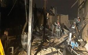 آتش سوزی در کارگاه درب چوبی