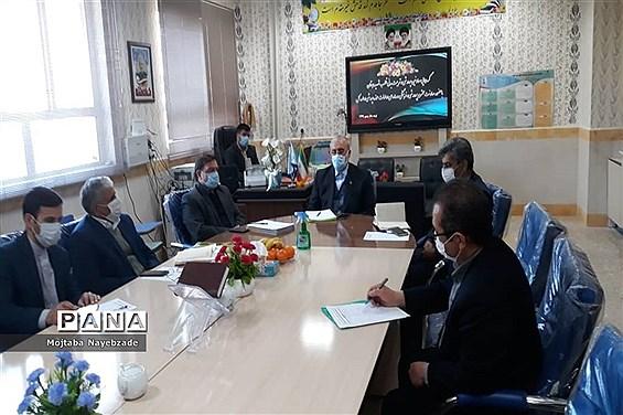حضور معاون پرورشی و فرهنگی  آموزش و پرورش استان و روسای ادارات داخلی این  حوزه  در تربت جام