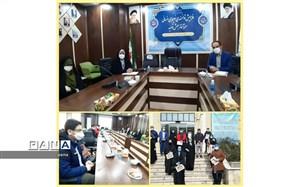 نشست اعضاء هیئت رئیسه مجلس دانش آموزی منطقه 10 با مسئولان آموزش و پرورش منطقه 10 شهر تهران