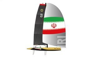 از قایق رسمی ایران در لیگ ستارههای بادبانی رونمایی شد