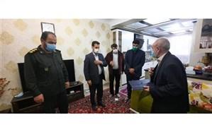 دیدار مدیر آموزش و پرورش ناحیه دو شهرری با خانواده شهیدصدقی