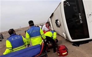 ۱۷ مصدوم در تصادف اتوبوس در اتوبان تهران-قم