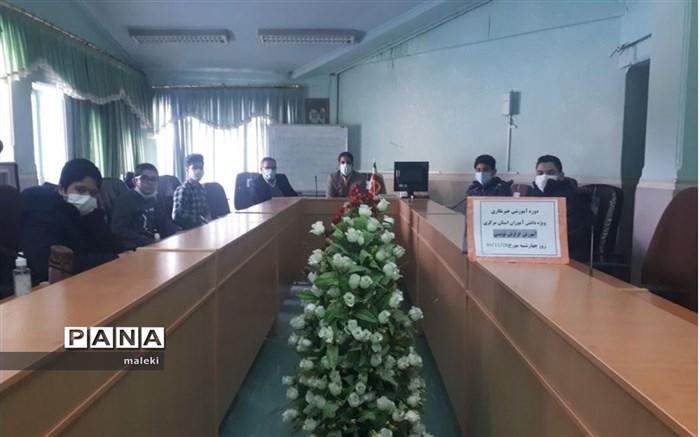 بازدید رئیس سازمان دانش آموزی مرکزی از روند برگزاری دوره آموزشی خبرگزاری پانا