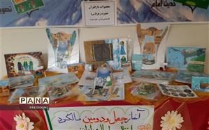 برپایی نمایشگاه تولیدات دارالقرآن حضرت زهرا(س) در منطقه چهار