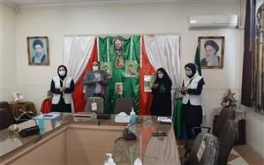 آیین زنگ انقلاب با حضور سردار فتح الهی در دبیرستان شاهد عصمت به صدا در آمد