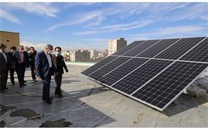 افتتاح و نصب پنل خورشیدی در اداره کل آموزش و پرورش استان اردبیل