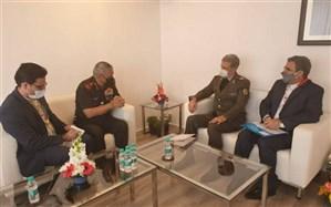 وزیر دفاع ایران با رییس ستاد کل نیروهای مسلح هند دیدار کرد