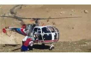 نجات جان مادر باردار با اقدام پسندیده نیروی اورژانس هوایی یاسوج + فیلم