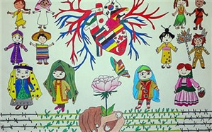 نقاشی صلحآمیز دانشآموز گلوگاهی در جهان اول شد