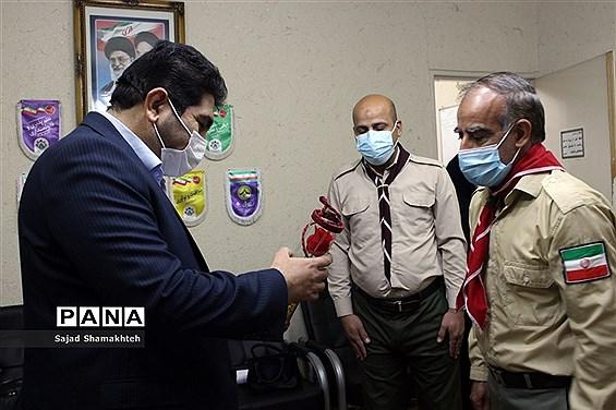 دیدار مسئول و تعدادی از مربیان  سازمان دانش آموزی شاوور با مدیر سازمان دانش آموزی خوزستان