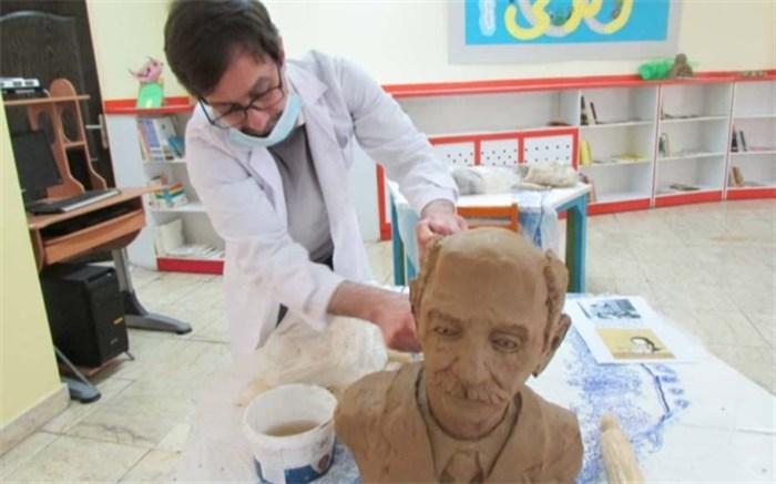 برگزاری  کارگاه ساخت تندیس های گلی توسط واحد هنری کانون  البرز
