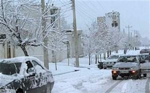 بارش اولین  برف زمستانی در شهر یاسوج + فیلم