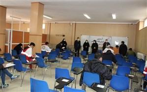 آزمون تربیت مربی دوره آموزشی پایه هلال احمر در زنجان برگزار شد