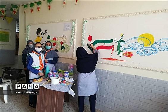جشنواره نقاشی همگانی بهمناسبت دهه فجر در ناحیه یک اهواز