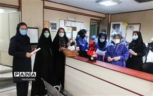 دل نوشته ها و نقاشی های دانش آموزان منطقه 4 به مدافعان سلامت تقدیم شد