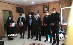 تجلیل از دانش آموزان فعال فرهنگی در شهرستان بن
