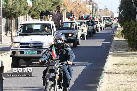 خلق حماسهای ماندگار با رژه خودرویی در تایباد