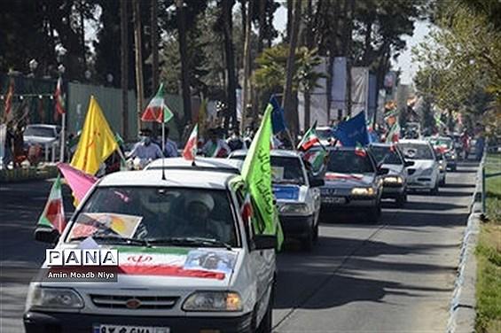 حضور پرشور مردم زاهدان در راهپیمایی خودرویی 22 بهمن