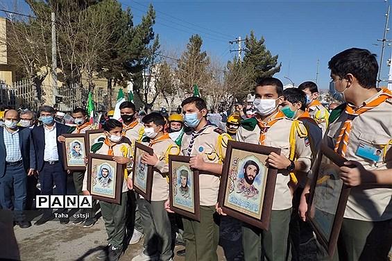 حضور تشکیلات  پیشتازان شهرستان  بجنورد در رژه خودرویی 22 بهمن
