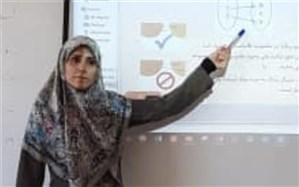 کسب  رتبه اول کشوری دبیر ریاضی  شهرستان ورامین در جشنواره الگوهای تدریس