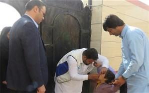 مرحله نخست واکسیناسیون فلج اطفال برای 446 هزار کودک در سیستان و بلوچستان آغاز شد