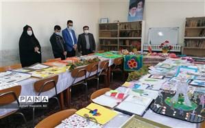 برپایی نمایشگاه دستاوردهای فرهنگی و هنری دانش آموزان در فاروج