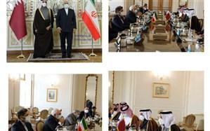 وزیر امور خارجه قطر با ظریف دیدار کرد