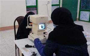 بینایی سنجی رایگان  بیش از 100 دانش آموز در شهرستان درمیان  خراسان جنوبی
