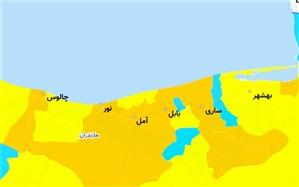 وضعیت کرونایی شهرستانهای مازندران: 8 شهرستان نارنجی است