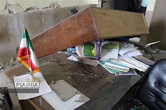 خسارت شدید زلزله به مدارس شهر سی سخت