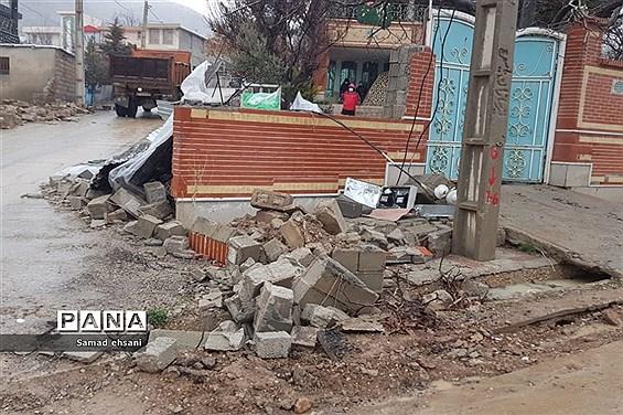 آسیب جدی زمین لرزه به منازل مسکونی شهر سی سخت -2