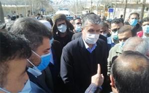 بازدید وزیر راه از منطقه زلزلهزده سیسخت