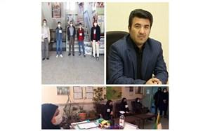 برگزاری اداره یک روزه مدارس توسط شورای دانش آموزی در بسترشبکه  شاد
