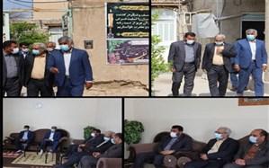 دیدار معاون پرورشی و فرهنگی اداره کل آموزش و پرورش استان بوشهر با خانواده اکرامیان فرهنگی فقید