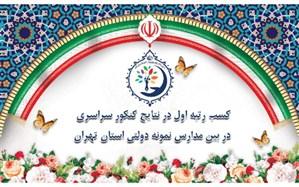 کسب رتبه اول در نتایج کنکور سراسری در بین مدارس نمونه دولتی استان تهران