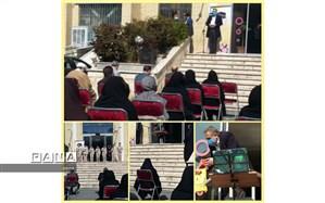 اجرای برنامه  سنتور نوازی  دانش آموزان پایه اول ابتدایی از آموزشگاه دکتر حافظی در ویژه برنامه میلاد امام علی منطقه 10