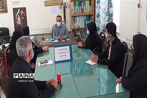 نشست کارگروه جذب نوآموزان پیش دبستانی درشهرستان حمیدیه