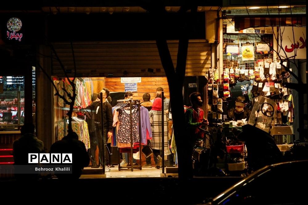 تهران بعد از ساعت 21 در وضعیت زرد کرونایی