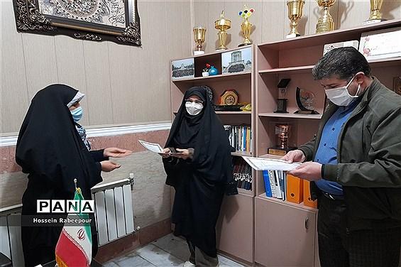 تقدیر از مربیان پرورشی 112 مدرسه منطقه 16 به مناسبت هفته تربیت اسلامی