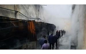 مهار آتشسوزی کشتارگاه طیور در لوشان