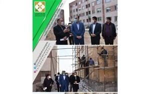 بازدید مسئولین شهرستان گلبهار از پروژه های مسکن های مهر