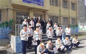 تجلیل از گروه سرود پیشتازان سازمان دانش آموزی استان