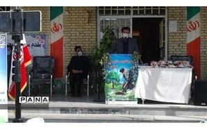 غرس نهال توسط مدیر آموزش و پرورش فاروج در دبستان قرآنی سمیه