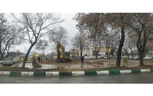 پروژه میدان پانزده خرداد زنجان در حال اجرا