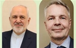 ظریف از وزیر خارجه فنلاند برای سفر به تهران دعوت کرد