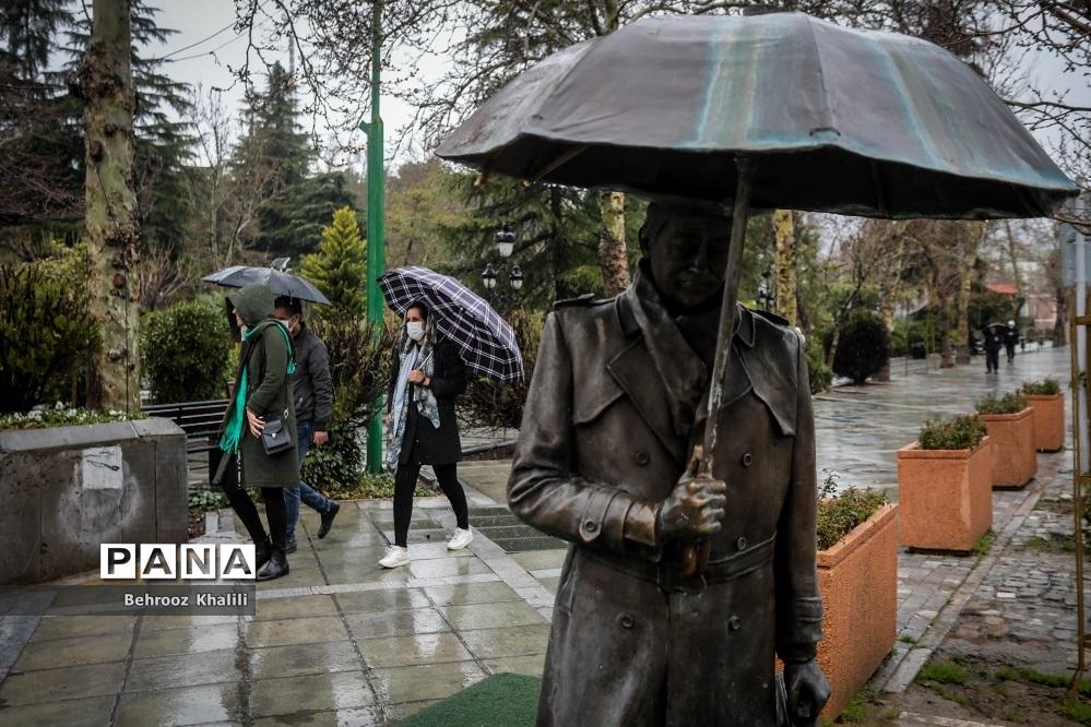 تهران بارانی در آخرین روزهای سال